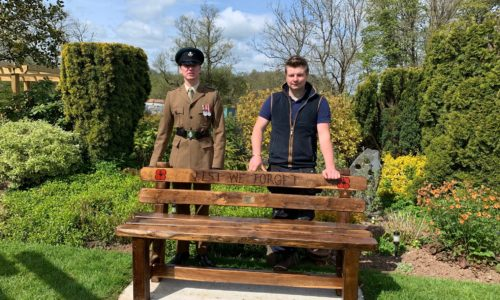 commemorative bench at the anchor inn exebridge