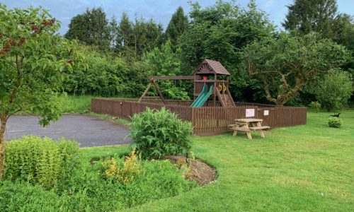 childrens play area and beautiful gardens at the anchor inn exebridge