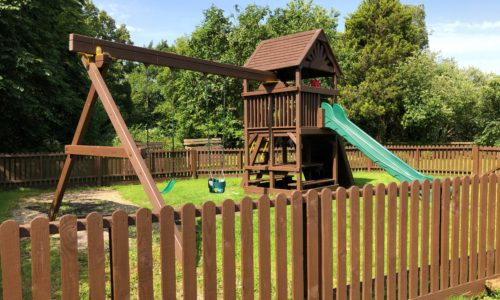 childrens play area and beer garden at the anchor inn exebridge